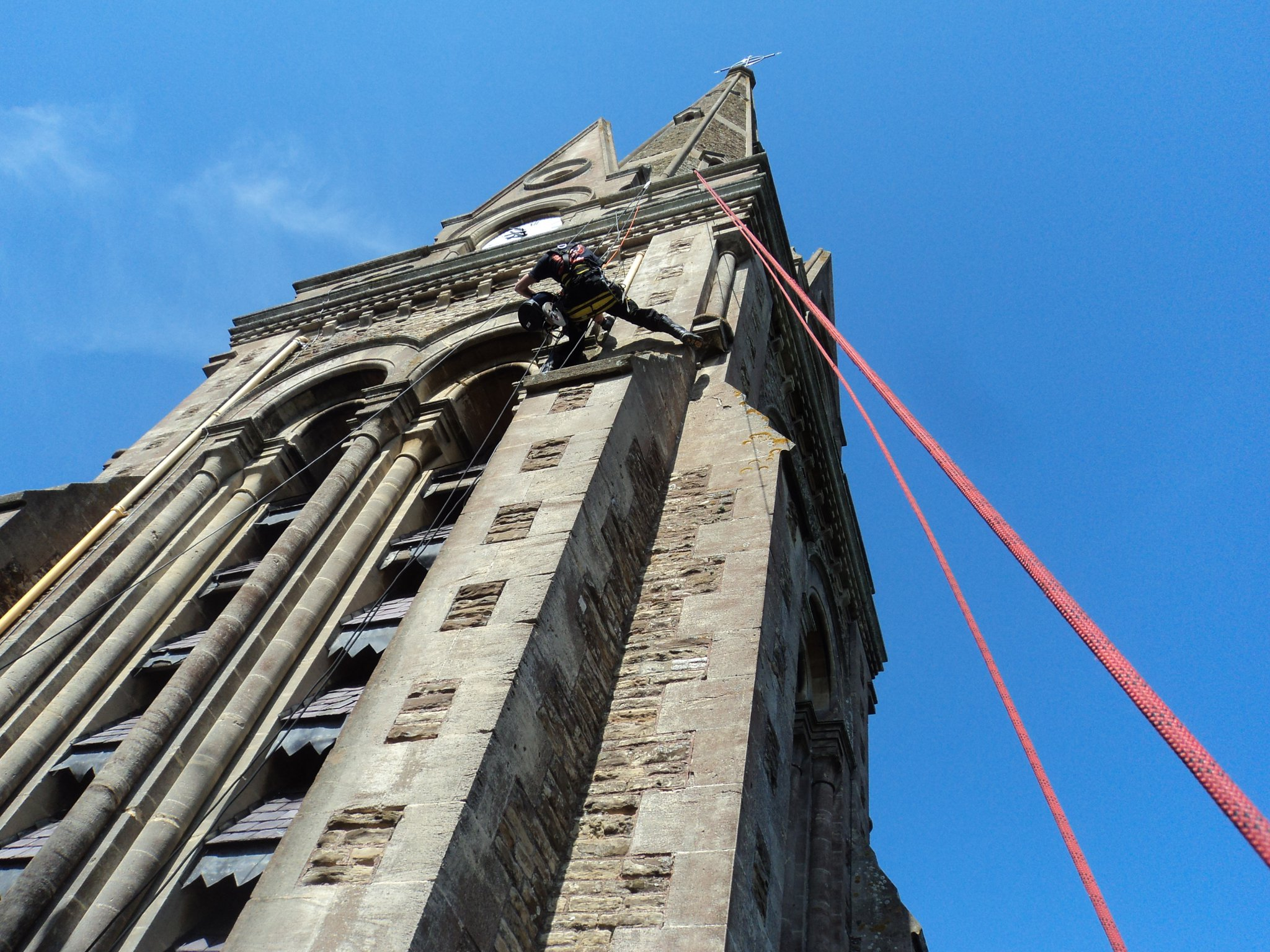 Photos Of Our Abseiling Technicians At Work Sussex Rope